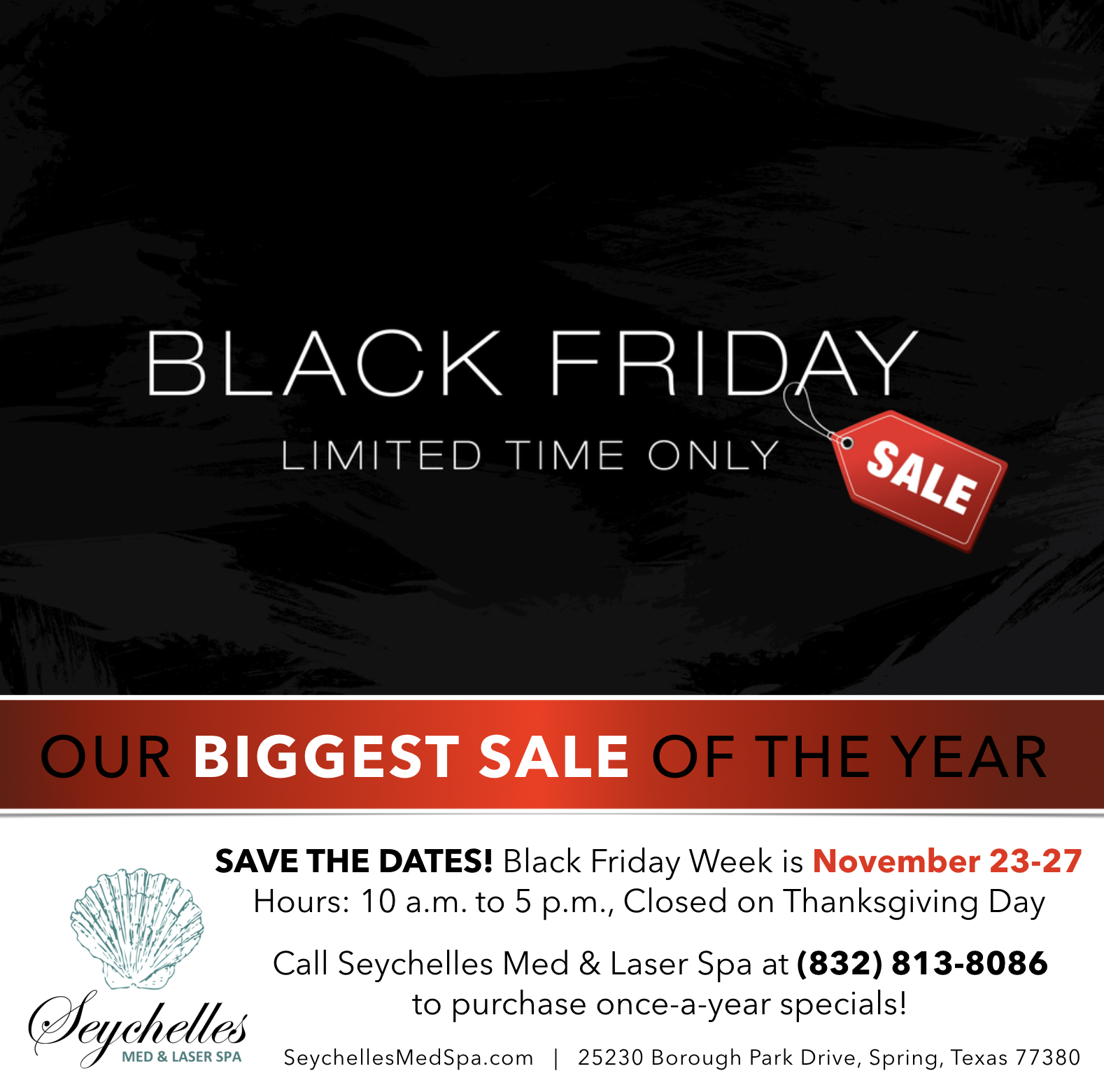 Black Friday Seychelles Med & Laser Spa