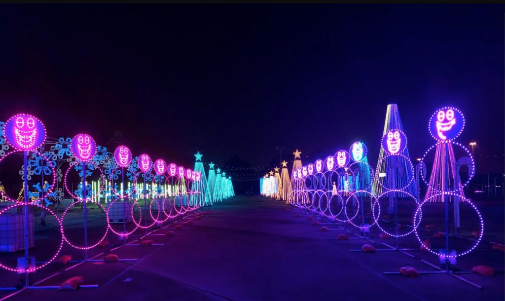 the lights park hurricane harbor splashtown