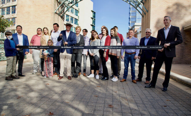The Woodlands Waterway Avenue Bridge Renamed and Dedicated as the Alex Sutton Family Bridge