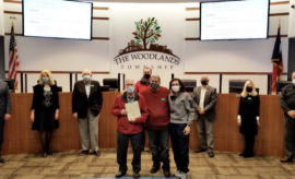 PHOTO: The Board of Directors issued a proclamationrecognizing local small business owner, Don Baker, of The Candy House who was accompanied by his son Don Jr. and grandaughter Kelly Andrus.