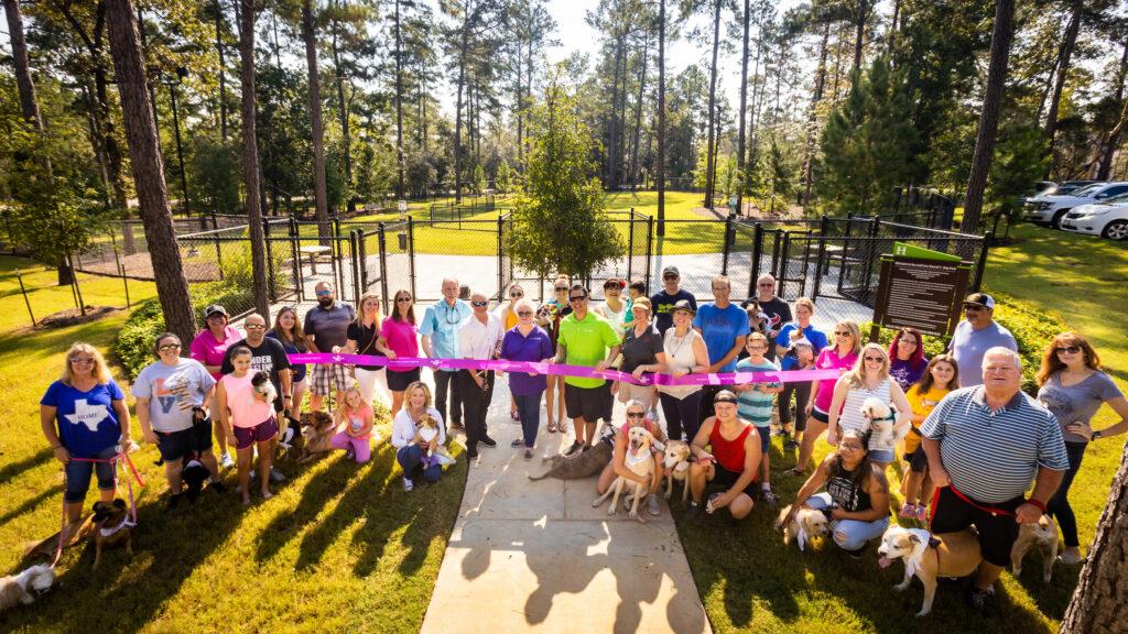 Dog Park in The Woodlands Hills - Dedication