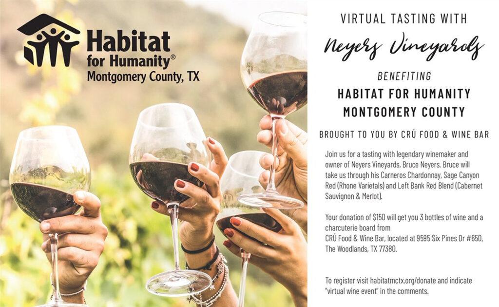 Habitat MCTX Virtual Wine Tasting 2021 Humanity Montgomery County