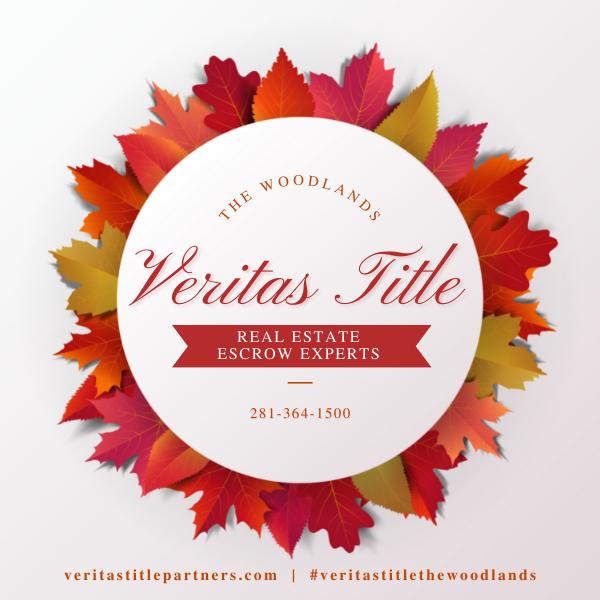 Veritas Title The Woodlands Fall September 2021