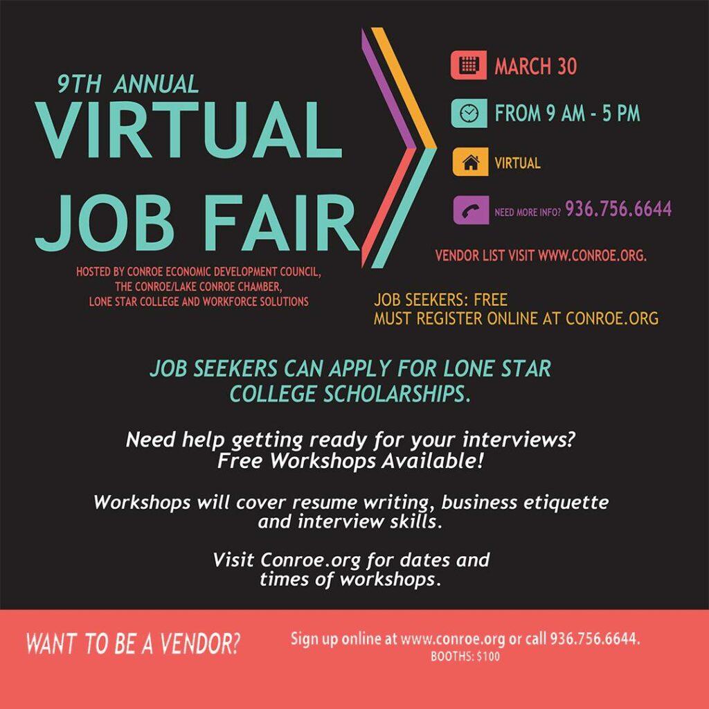 9th Annual Conroe Job Fair Virtual 2021 Conroe:Lake Conroe Chamber of Commerce