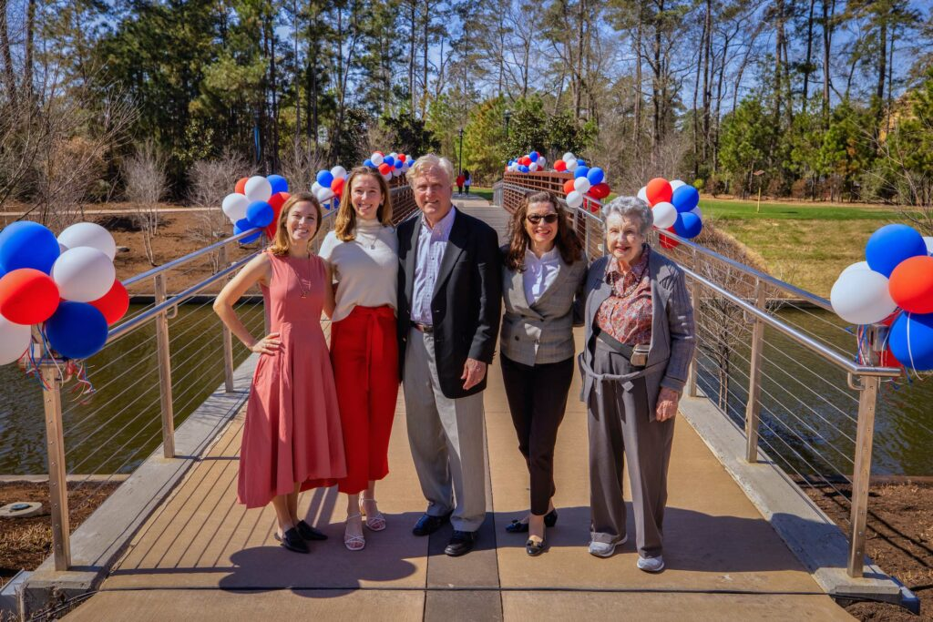 Heineman pedestrian bridge 2021 howard hughes the woodlands