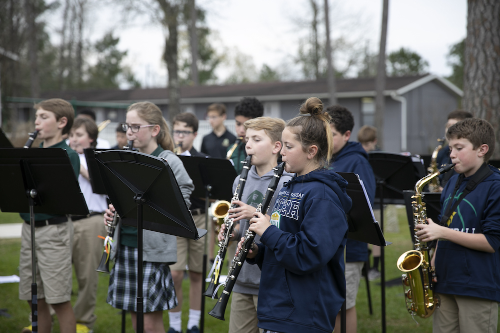 Photo Credit: The Woodlands Christian Academy; Photo: Middle School Band