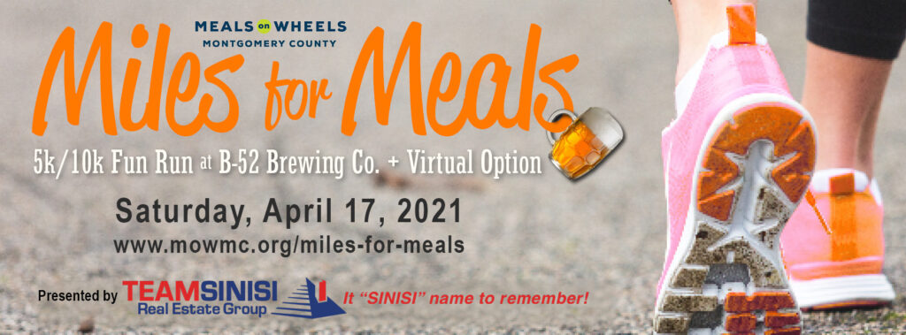 Miles for Meals 2021 Meals on Wheels Montgomery County