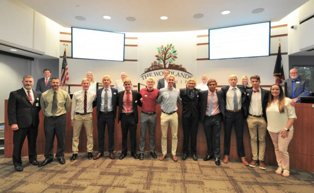 The Board also recognized The Woodlands High School Boys Swim Team for winning a state title in 2010 and winning the program's ninth state championship at the UIL Class 6A boys state championship and proclaimed Wednesday, March 31, 2021 as The Woodlands High School Boys Swim Team State Champions Day.