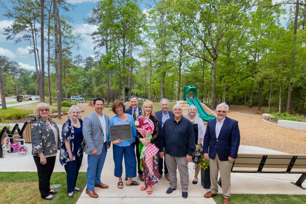 Ribbon Cutting ceremony held to commemorate new park In honor of Sue Luce's Daisy Park.