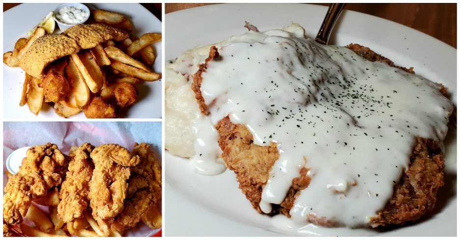 (Fried Catfish, Country Fried Steak and Chicken Tenders)