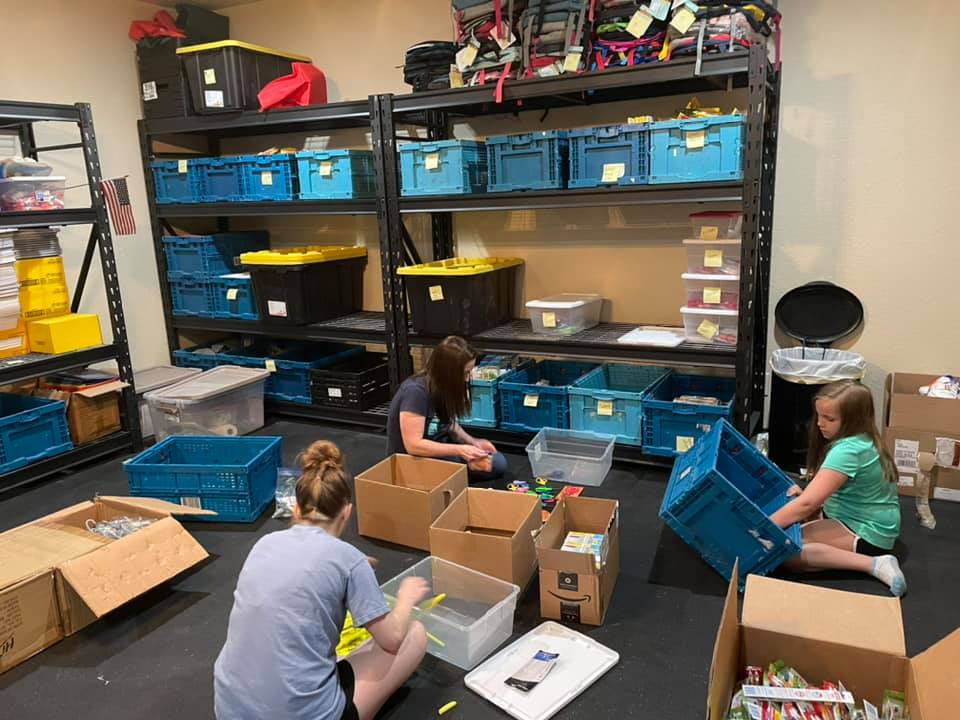 Baily's Backpacks B.E. Blessed warehouse