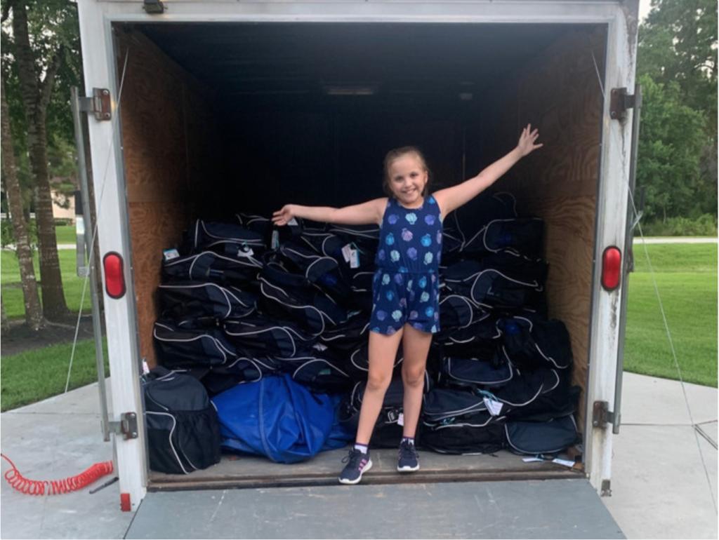 Baily's Backpacks truck