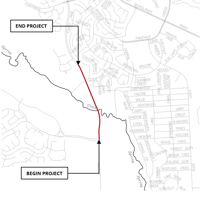 Photo provided by Montgomery County Precinct 3; Gosling project limits