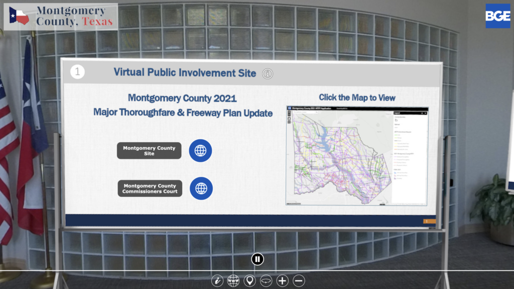 Virtual Public Involvment Site Major Thoroughfare Freeway Plan Update 2021 Montgomery County Texas