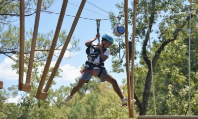 Texas TreeVentures, a challenge-by-choice aerial adventure course in The Woodlands Township, is open for summer reservations.