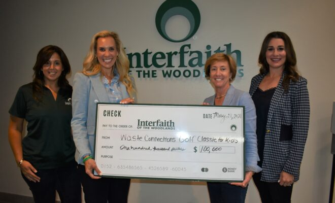 Waste Connections Donates $100,000 Interfaith of the Woodlands Golf Classic for Kids