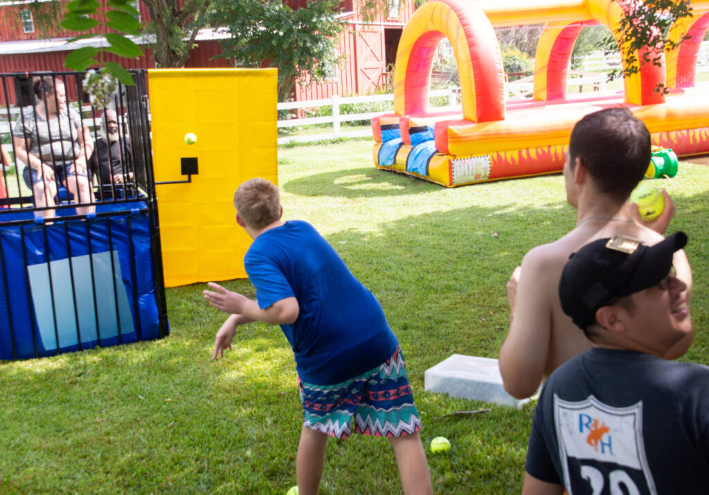 2021 Water Day New Danville dunking booth