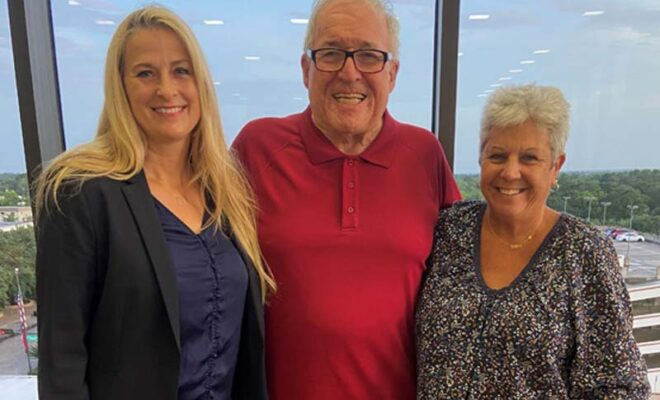 Kelly McDonald and Margie Taylor with Chairman Jimmie Edwards