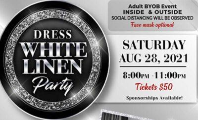2021 Children's Books on Wheels CBOW Dress White Linen Party