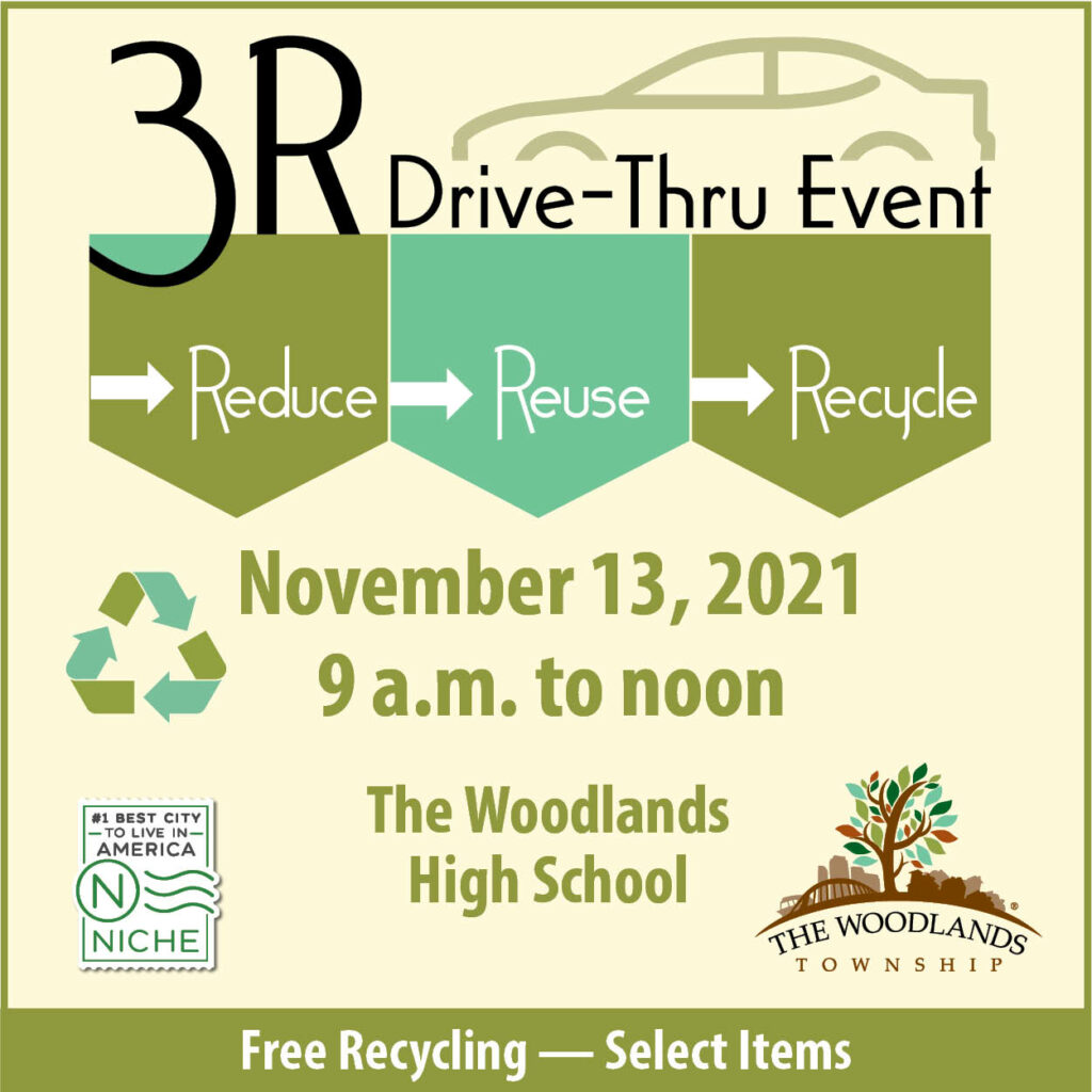 3R Recycling Hello Woodlands The Woodlands Township 2021