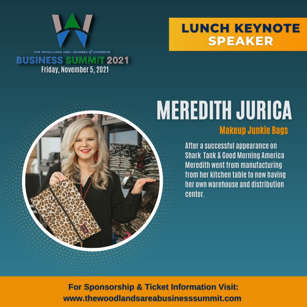 Business Summit Woodlands Area Chamber of Commerce Business Summit 2021 Meredith Jurica Makeup Junkie Bags