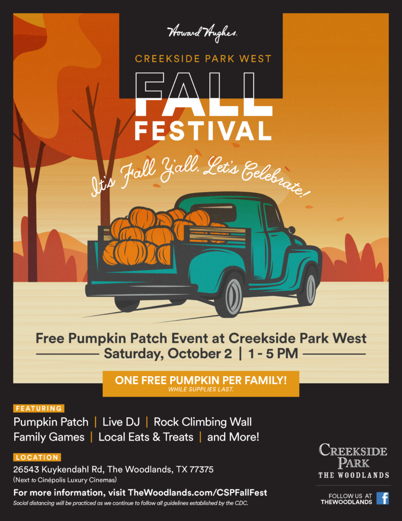 Creekside Park 2021 Fall Festival Woodlands