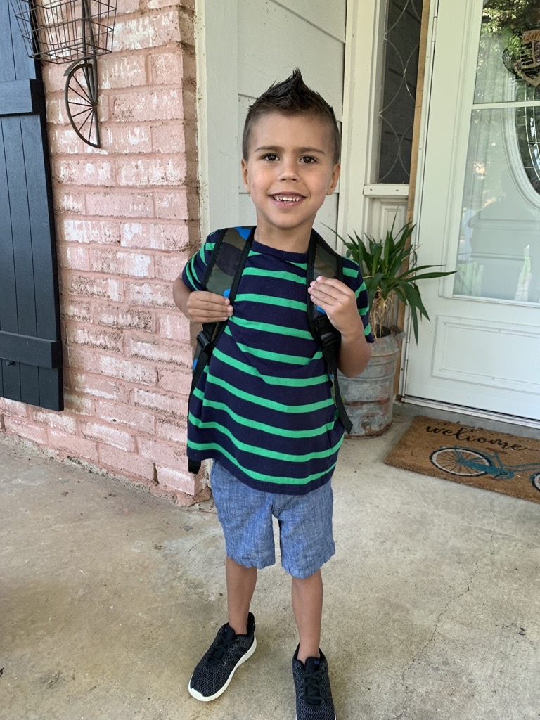 Photo provided by American Heart Association; C.T. Griffin on his first day of Kindergarten