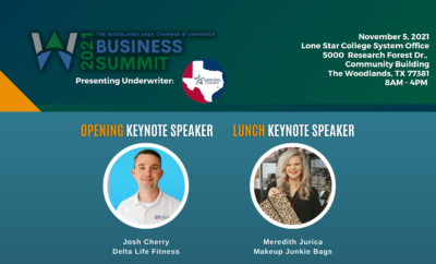 Woodlands Area Business Summit Agenda 2021 Woodlands Area Chamber of Commerce Cover